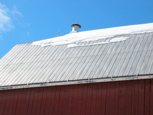 Barn roof melt-off