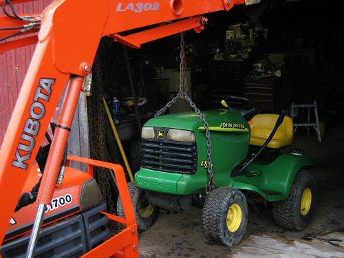 Repairing the riding mower
