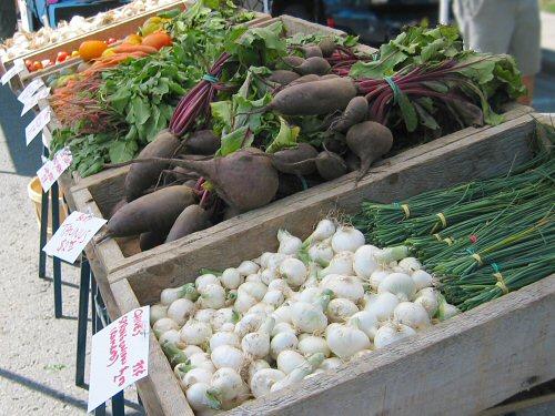 Farmers' market early August
