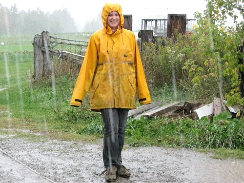 Rainy day harvest fashion