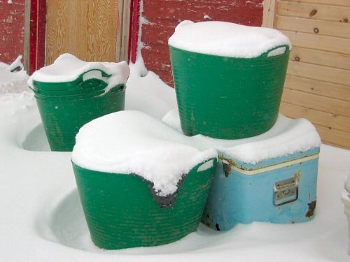 Buckets of snow
