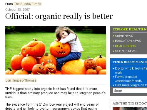 Sooo, organic IS better!?!