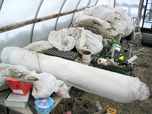 Winter-stored gear in the greenhouse