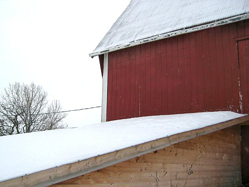 Barn, Milkhouse, snow load