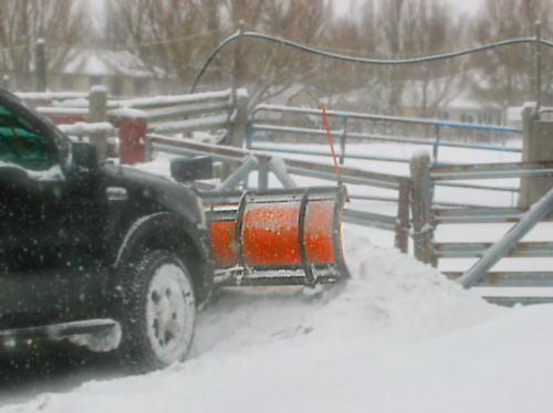 Snow plowing…