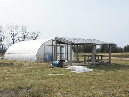 Farm stand and greenhouse