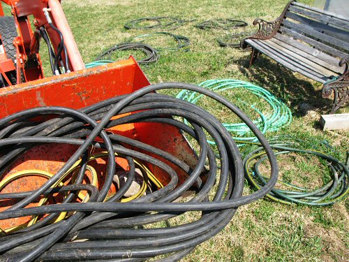 Tangling with hoses