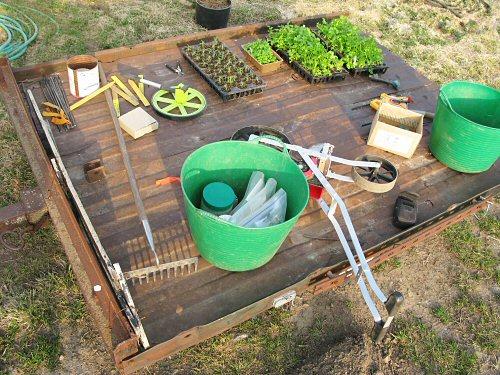 Garden gear on trailer