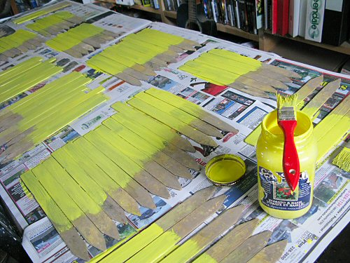 Painting garden markers