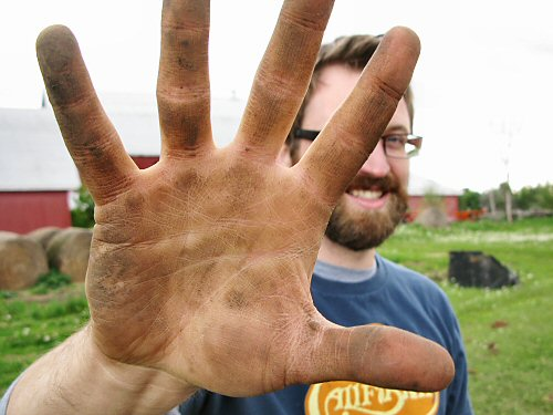 Getting hands dirty