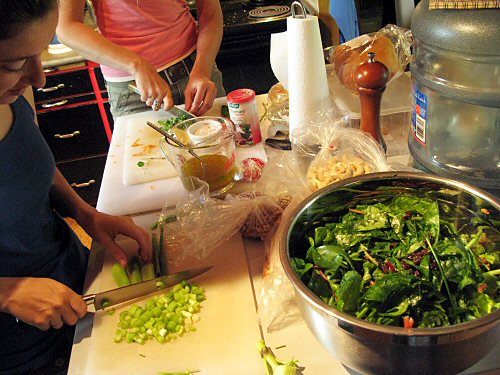 Making salad