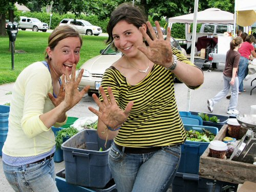 Dirty hands at the farmers' market