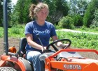 Working the tiny tractor