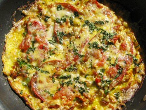 Chicken and veg omelet