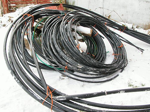 Coiled irrigation pipe