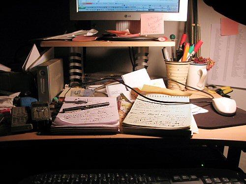 Winter farm desk