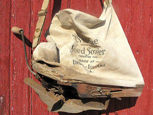 Antique broadcast seeder
