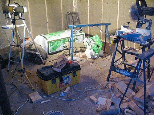 New seedling room: doorknobs and AC plugs