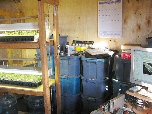 New seedling room mainly packed up