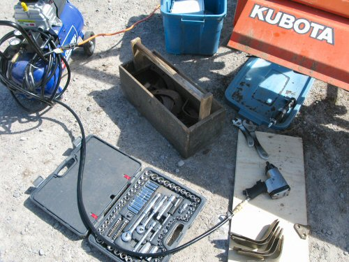 Compressed air and rototiller repair