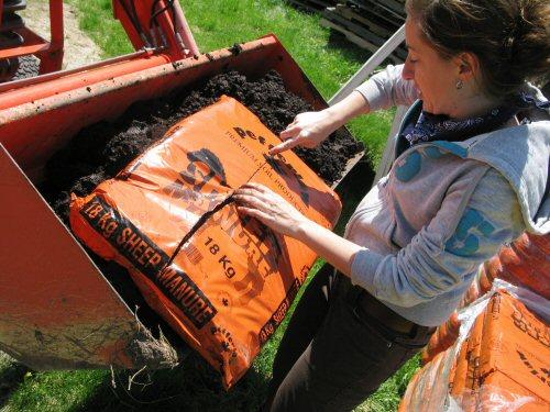 Compost debagging method
