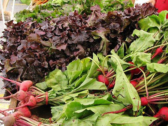 Baby beets & leaf lettuce