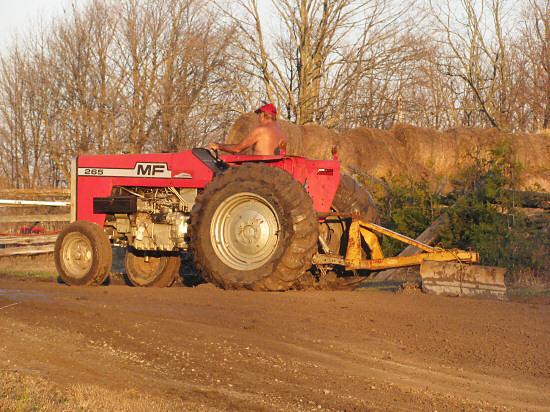 Wayne doing tractor yardwork