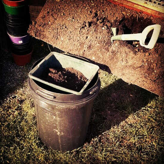 Sifting compost (every tool has its day)