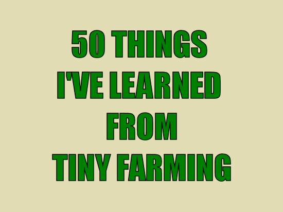 50 Things I've Learned from Tiny Farming
